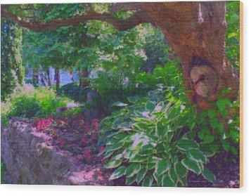 Return To The Secret Garden Wood Print