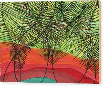 Reunion Wood Print by Lesa Weller