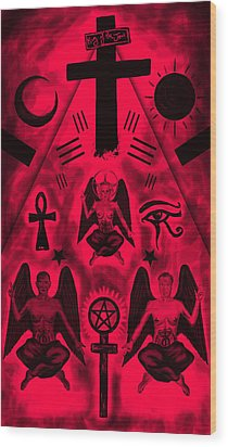 Revelation 666 Wood Print by Kenal Louis