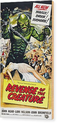 Revenge Of The Creature, As The Gill Wood Print by Everett