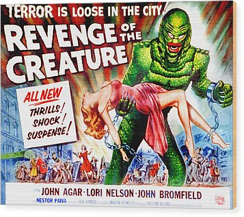 Revenge Of The Creature, Lori Nelson Wood Print by Everett