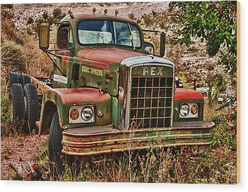 Wood Print featuring the photograph Rex The Truck by James Bethanis