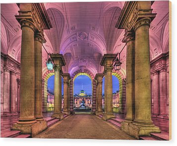 Rhapsody In Pink Wood Print by Evelina Kremsdorf