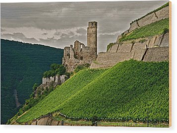Rhine River Medieval Castle Wood Print by Kirsten Giving