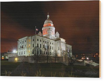 Rhode Island Capital Building Wood Print by Shane Psaltis