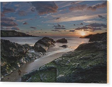 Wood Print featuring the photograph Rhosneigr Sunset  by Beverly Cash