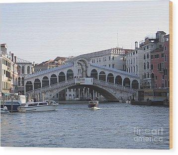 Rialto. Venice Wood Print by Bernard Jaubert