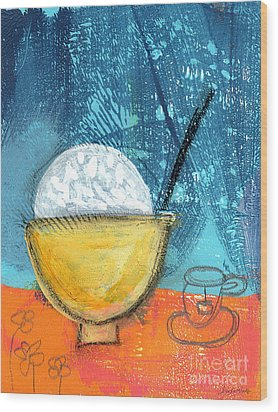 Rice And Tea Wood Print by Linda Woods