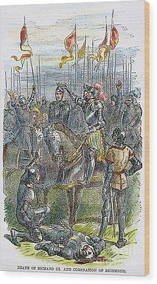 Richard IIi At Bosworth Wood Print by Granger