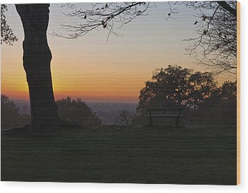 Richmond Sunset Wood Print by Maj Seda