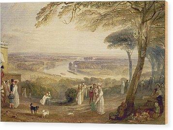 Richmond Terrace Wood Print by Joseph Mallord William Turner