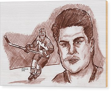 Rick Tocchet Wood Print by Chris  DelVecchio