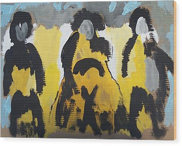 Riders Of The Purple Sage Wood Print by Jay Manne-Crusoe