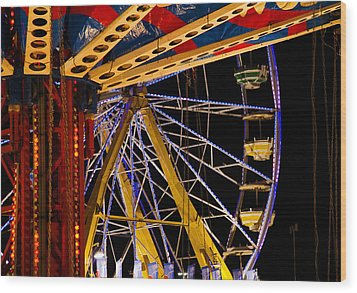 Wood Print featuring the photograph Rides by Michael Friedman