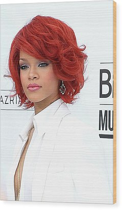 Rihanna At Arrivals For 2011 Billboard Wood Print by Everett