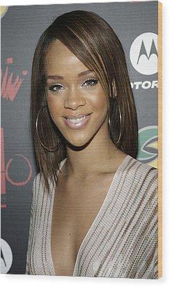 Rihanna At Arrivals For Jay-z Wood Print by Everett