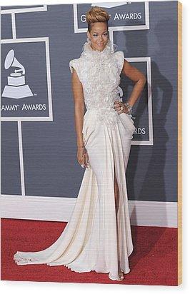 Rihanna Wearing An Elie Saab Haute Wood Print by Everett