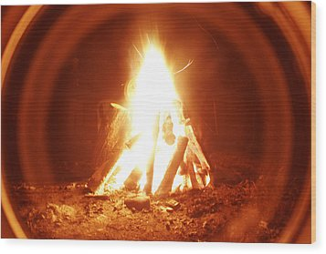Ring Of Fire Wood Print by Artist Orange