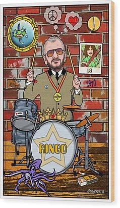 Ringo Starr Wood Print by John Goldacker