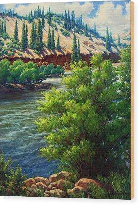 Rio Grande Colorado Wood Print by Vickie Fears
