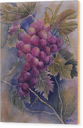 Ripening On The Vine Wood Print