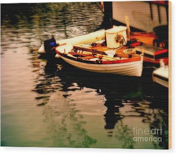 Ripples And Reflections Wood Print by Kevin Moore