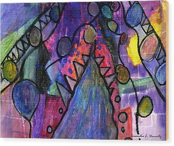 Rising From The Ashes Wood Print by Cassandra Donnelly