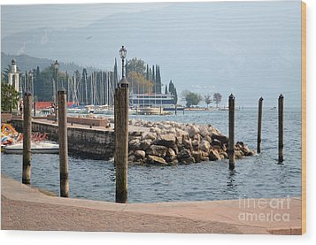 Wood Print featuring the photograph Riva Del Garda by Kathleen Pio