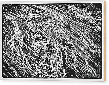 River Abstract Wood Print by John Rizzuto