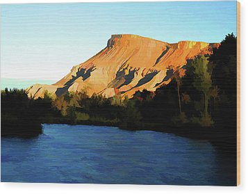 Wood Print featuring the digital art River Bend by Brian Davis