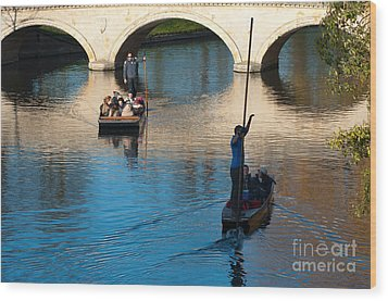 River Cam Traffic Wood Print by Andrew  Michael