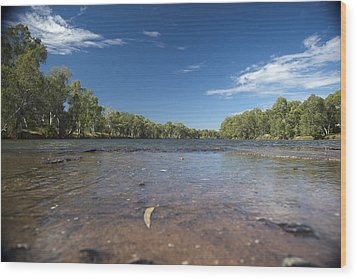 Wood Print featuring the photograph River Crossing. by Carole Hinding