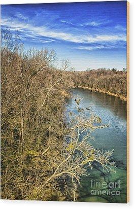 River Crossing Virginia Wood Print by Jim Moore
