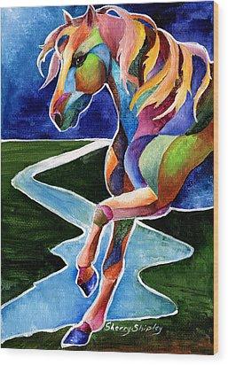 River Dance 2 Wood Print