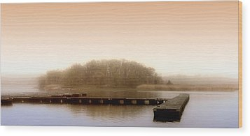 Wood Print featuring the photograph River Fog by Karen Lynch