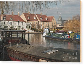 Wood Print featuring the photograph River Great Ouse by Andrew  Michael
