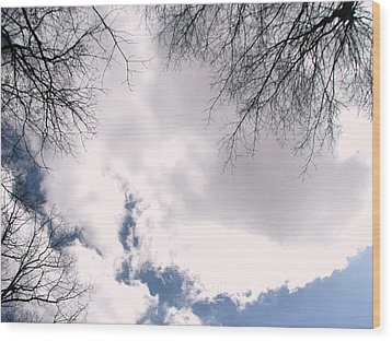 Wood Print featuring the photograph River In The Sky by Pamela Hyde Wilson