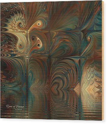 Wood Print featuring the digital art River Of Dreams by Kim Redd