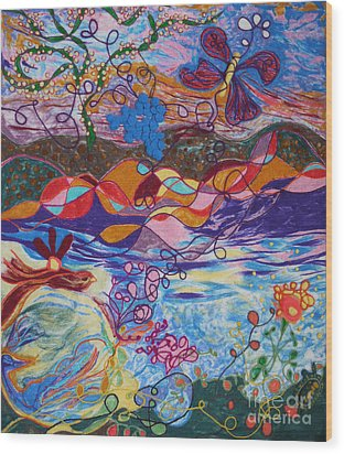 River Of Life Wood Print by Heather Hennick