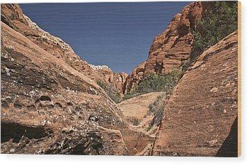 River Of Rock Wood Print