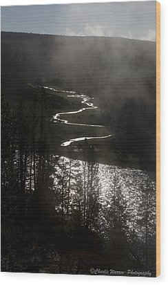 River Of Silver Wood Print by Charles Warren