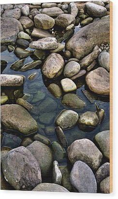 River Rocks Wood Print by Nick  Shirghio
