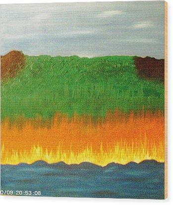 River Sambatyon Wood Print by Harris Gulko