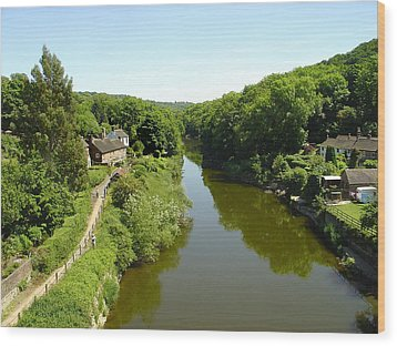 River Severn From The Iron Bridge Wood Print by Rod Johnson