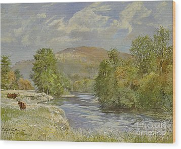 River Spey - Kinrara Wood Print by Tim Scott Bolton