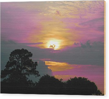 River To Heaven Wood Print by Judy Via-Wolff