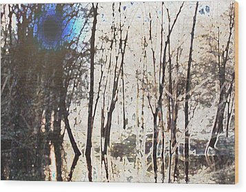 River Trees Wood Print