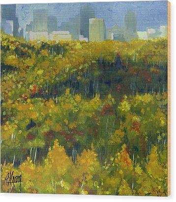 River Valley Yeg Wood Print
