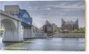 Riverfront Wood Print by David Troxel