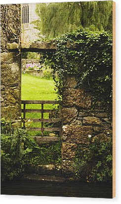 Riverside Gateway Wood Print by Peter Jenkins